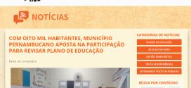 Plano de Educação de Tuparetama é destaque em site nacional