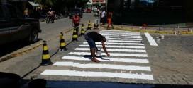 Secretaria de Administração inicia sinalização vertical do trânsito em Tabira