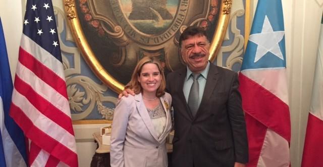 Patriota é recebido pela prefeita de San Juan, capital de Porto Rico