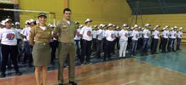O 23º BPM realiza mais uma formatura do programa Patrulheiro Mirim