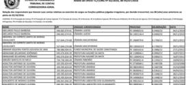 Lista do TCE ao TRE recebe mais 517 nomes. Veja atualização:
